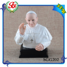 SGG202 White Resin Craft Pope Francis Statue, Religious Statues