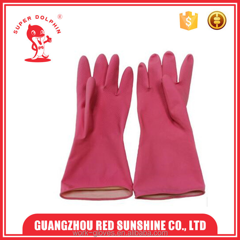Household rubber cleaning gloves