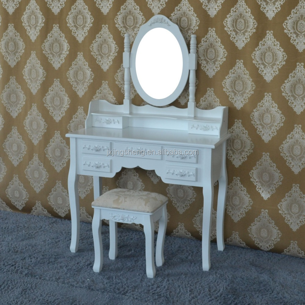 Fashional mdf furniture top sale high gloss vintage dresser with mirror