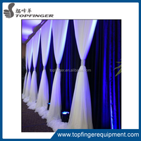 Factory direct ceiling drape portable pipe and drape kits for hall decorations