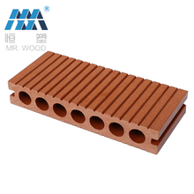 weather resistance groove design pvc plastic wood decking hollow decking wpc board