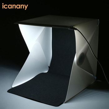 Fashionable Mini Portable Foldable Photography Studio Equipment Photo Box Studio with Black and White Backgrounds