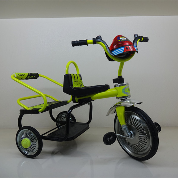 Double seat children tricycle/hot sale baby trike/baby twins tricycle