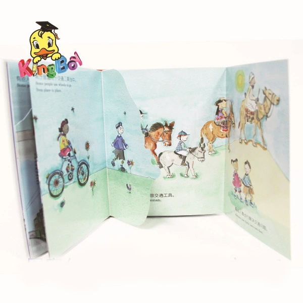 chinese cheap book manufacturer and fancy intersting folding book and easy english stories book