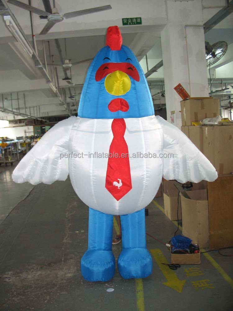 Guangzhou factory toy nice inflatable chicken model for promotion