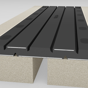 Ruida china manufactures hot sale 1200mm length movement transflex rubber bridge expansion joint drawing for Thailand