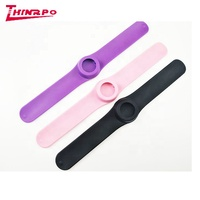 New arrive unique silicone slap band watch colorful cute children silicone watch kids slap watch