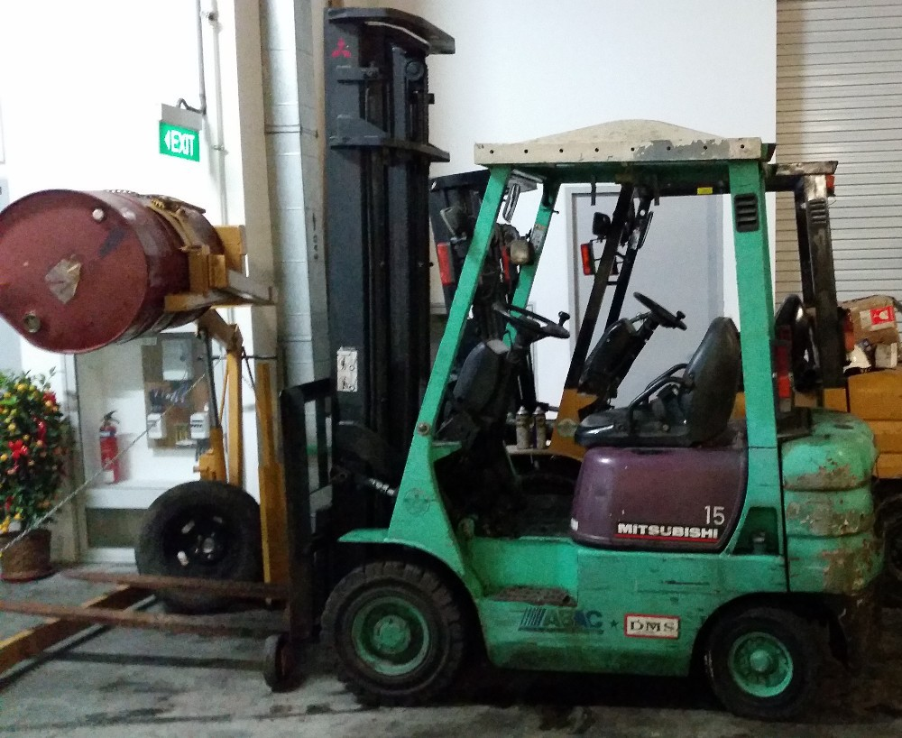 Used 1.5T Mitsubishi Diesel Forklift (FD15)