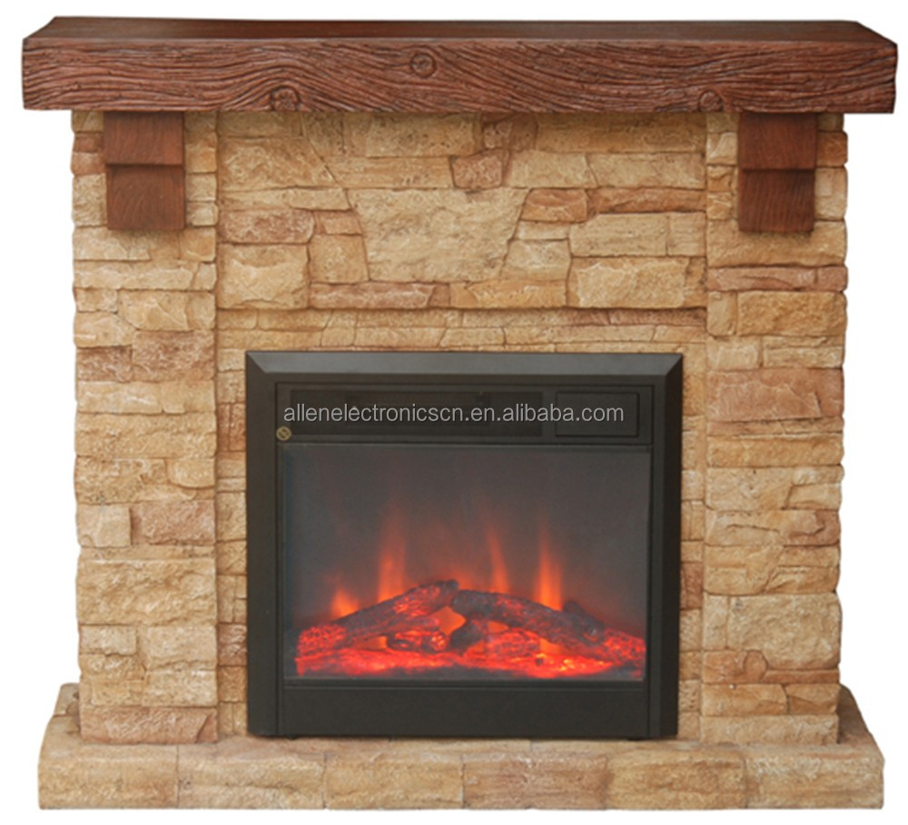 Faux Stone Electric Fire Places with Fake Flame for Indoor Home Decoration