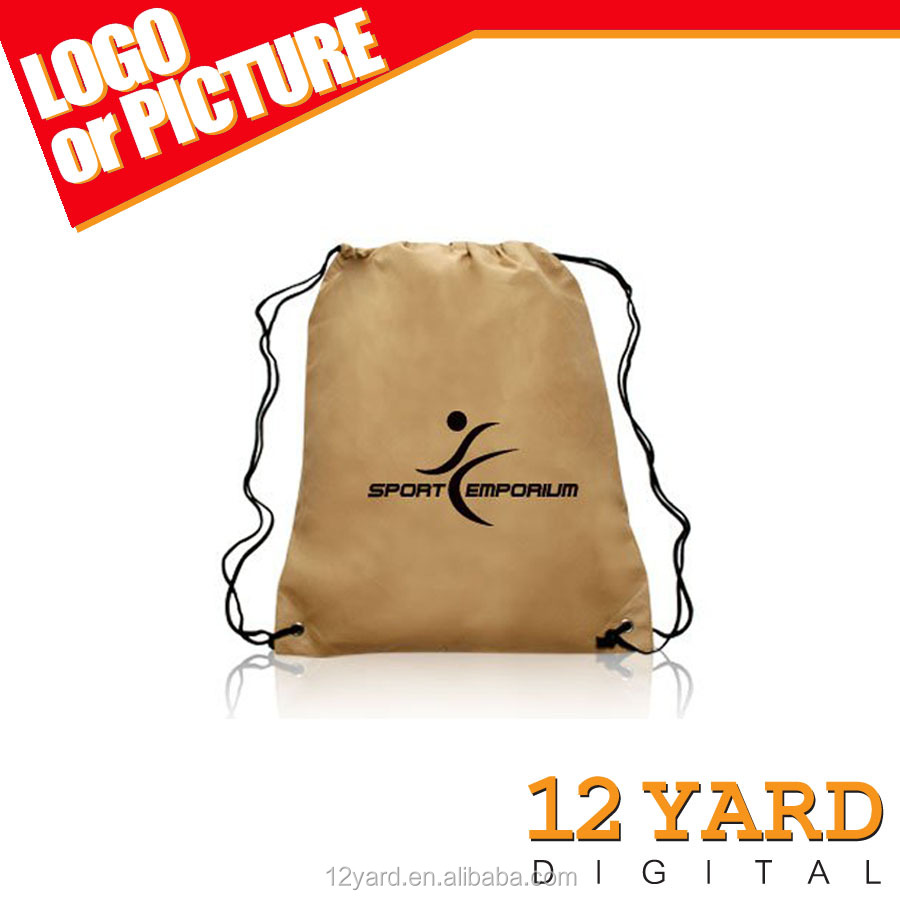 manufacture cheaper price customized polyester drawstring backpack sport &caming bag