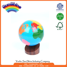 Montessori materials Wood Educational Toys Globe Of The World Parts ,geography