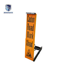 mini movable led warning reflective sign board for police road control