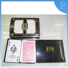 KEM 100% plastic playing CARDS with cheap price