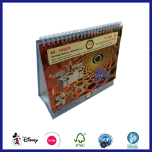 cute design sprial binding table top calendar