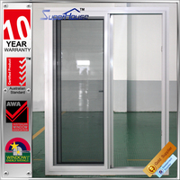 Australia standard AS2047 standard size double pane glass aluminium sliding doors