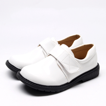 Handmade Leather Casual Flat Dress Sneakers White School Boys Shoes