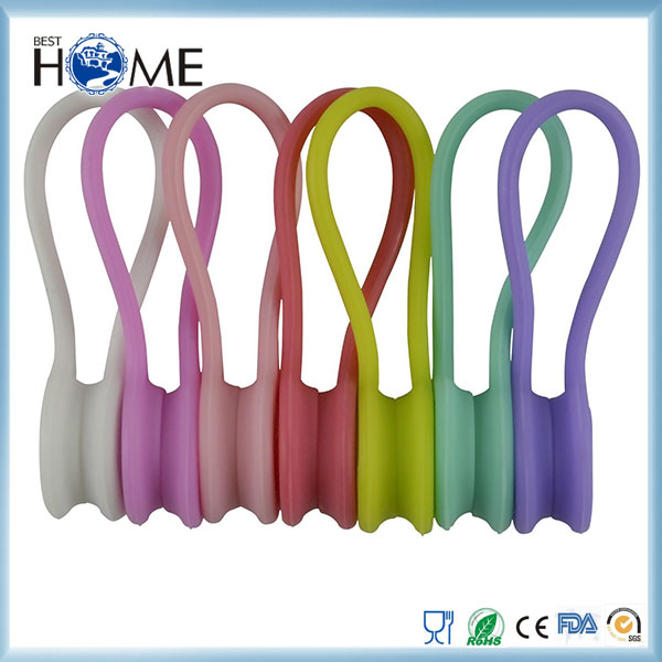 Cute Candy Color Generic Soft Silicone Earphone Cable Cord Organizer