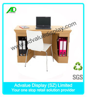 new design custom folding Paper Table and chair cardboard office furniture
