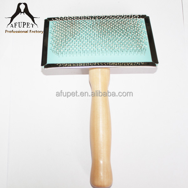 Wooden Handle Dogs Application Slicker Brush For Wholesale