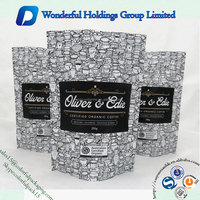 aluminum foil laminated stand up pouch resealable coffee bean packing custom printing coffee bag pouch