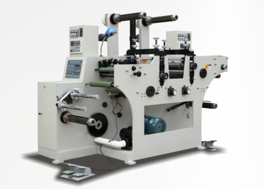 RTQH-450 Two rotary die cutting station with slitting and dual rewind