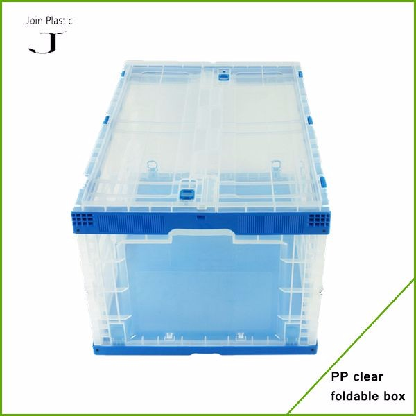 Transparent Plastic Collapsible Packaging PP Boxes And Clear Plastic Foldable Boxes For Home Use And  Storage