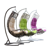 Garden furniture hanging chair wicker egg chair outdoor rattan swing chair D010