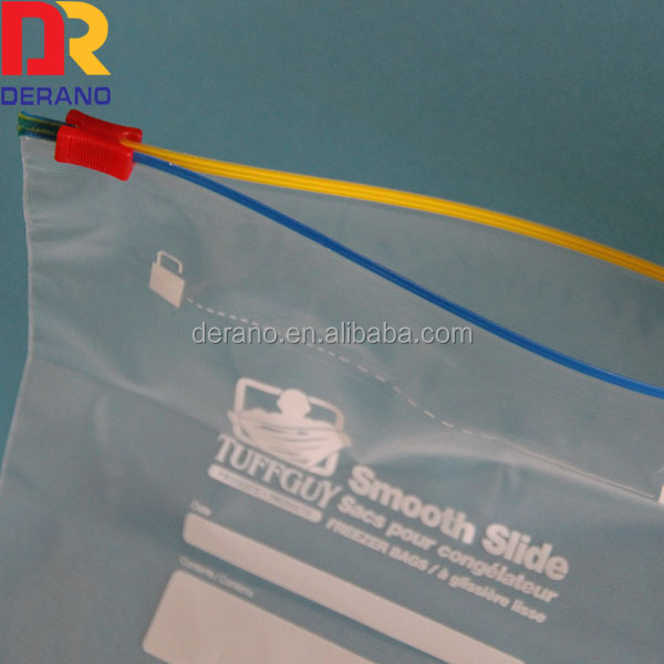 polythene slider bag with colorful box