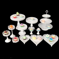 12PCS / Set Wedding Dessert Tray Cake Stand Cupcake Pan For Party Supply