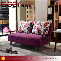 China top grade graceful design home furniture folded fabric sofa bed