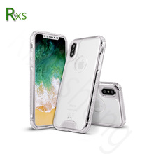 NEW Transparent Acrylic +TPU bumper hybrid case for iPhoneX/ Colorful Armor Clear Shockproof Phone case for iPhone X
