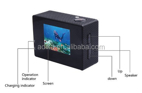 Wholesale High Quality 1080P Full HD SJ4000 WIFI Sport Camera ADK-SJ4000