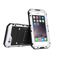 Water Dirt Shock Proof IP 68 360 Degree Full Protective Durable 3 in 1 Silicone Metal Drop and Water Proof Covers for iPhone 6