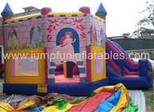 Cheap Inflatable Combo Princess Infltable Bounce House with slides,1000D PVC Inflatable Bouncer rental party