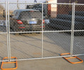 Temporary contruction steel fencing america Hot dipped galvanized portable 6'x12' visible security fence system