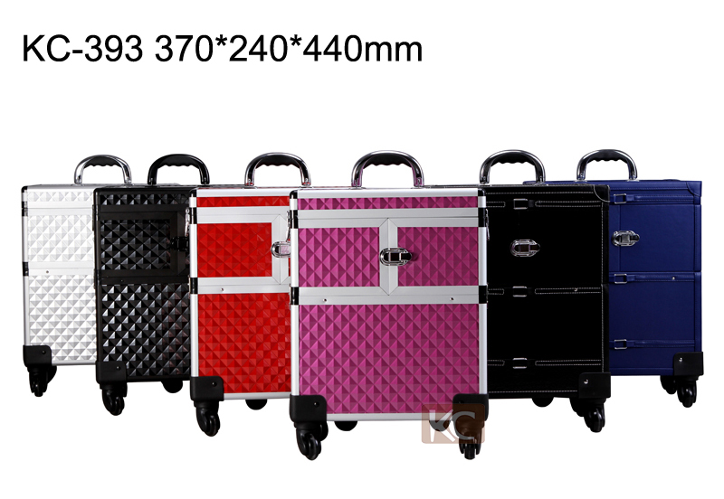 Professional beauty aluminum make up trolley carry case