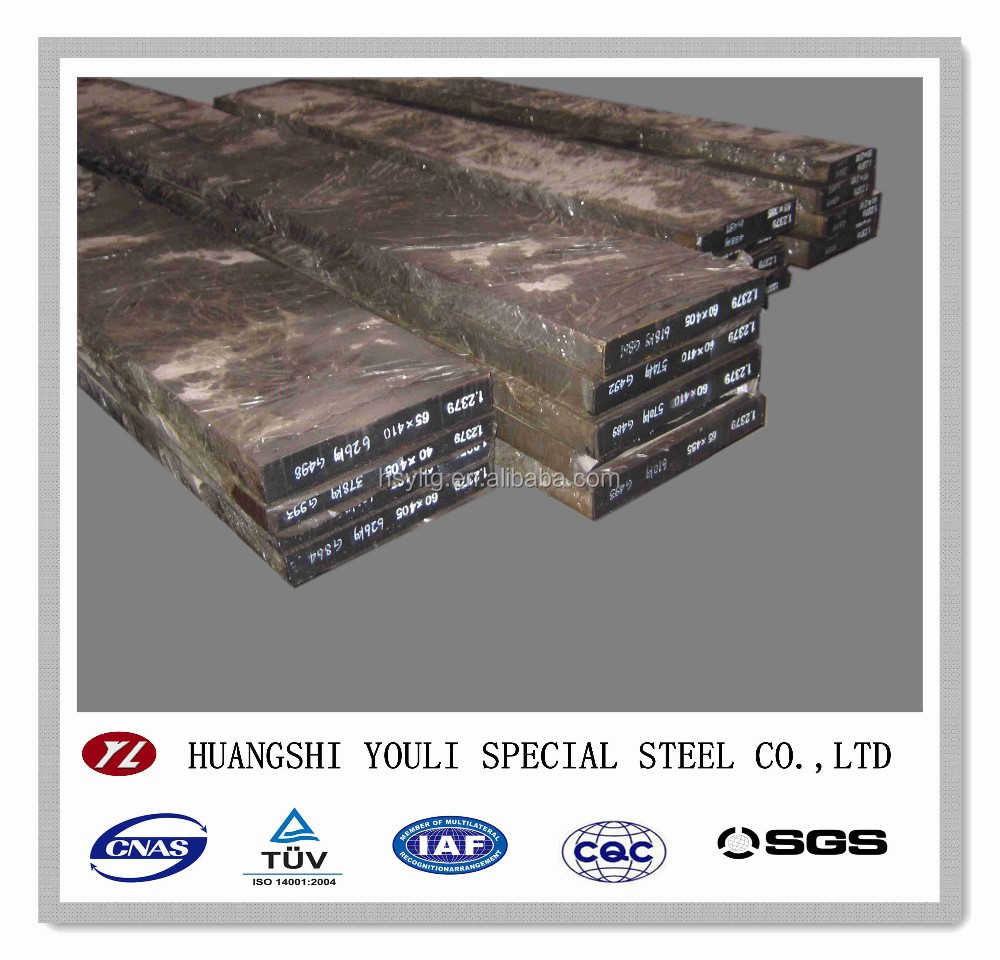 Work tool steel Cr12Mo1V1/1.2379/D2/SKD11 steel flat bars manufacturer in China
