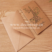 Hollow out kraft paper greeting card Christmas greeting card
