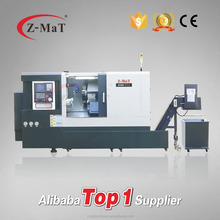 CNC Lathe Machine STL8 Slant bed linear guideway 8 stations turret cnc turning metal lathe with automatic tailstock