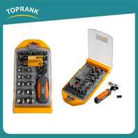 25pcs Dual side ratchet and socket set, small ratchet spanner set