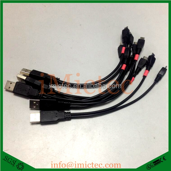 Customized USB2.0 A Male to Double Micro USB B Male Y cable for two Micro USB port devices