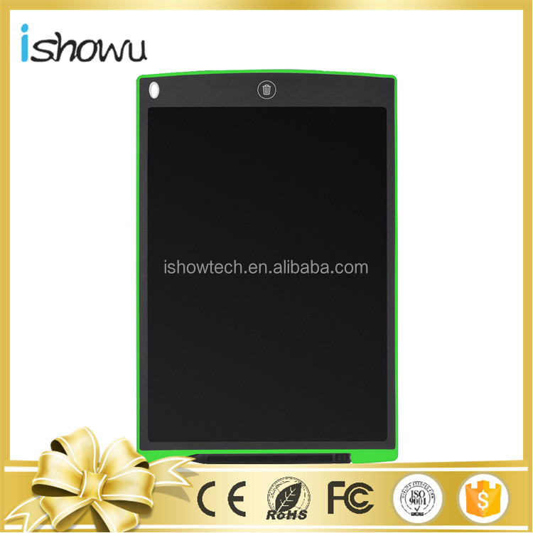 6 Color Drawing Board LCD WritingTablets Replaceable Battery Tablets-Erase Button+12 Inch Screen for All Age Group