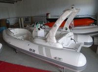 Rigid 1.2mm PVC inflatable rescue boat with yamahas motor