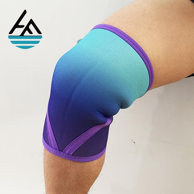 wholesale Custom Gym Powerlifting athletics neoprene knee compression sleeve
