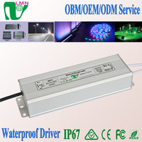 AC to DC 12-24V Aluminium 100W CE RoHS approved IP67 LED Driver