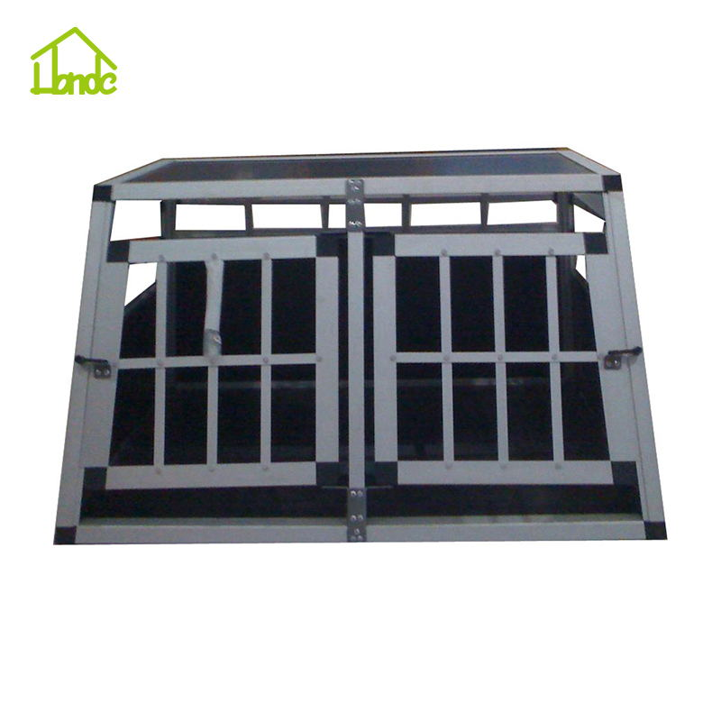 new design car Aluminium dog cage Car Cage for two dogs