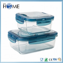 Wholesale high borosilicate glass container with silica gel ring