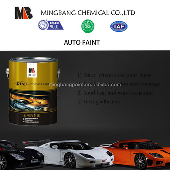 High Gloss Black Car Base Flat Color Coat Paint
