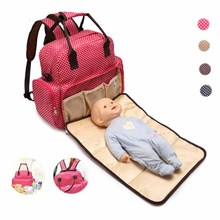 Roomy with wipeable changing pad baby cloth insulated pocket nylon multifunction diaper bag