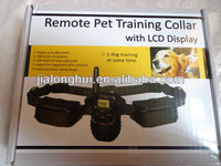 2014New Coming!1 for 2 Adjustable Electric Remote Pet Training Collar With LCD Display